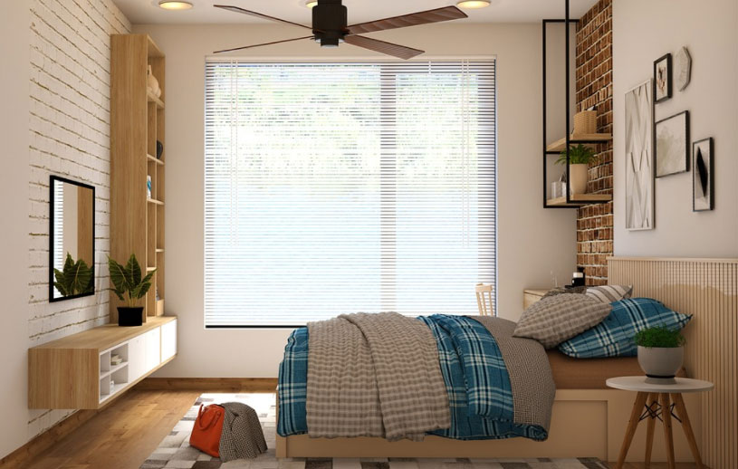 Bedroom with topper